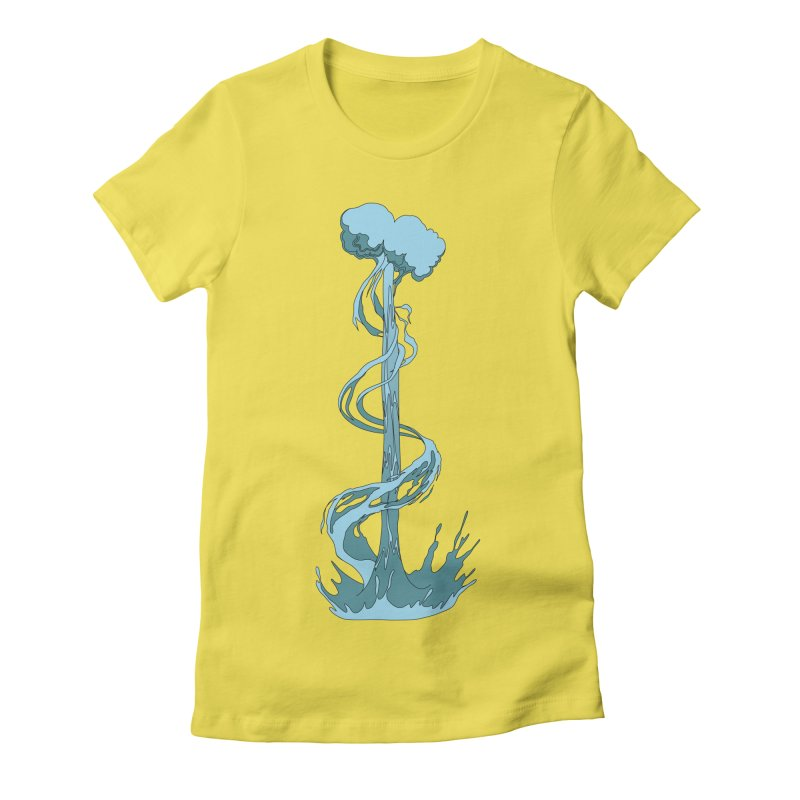 Water Blast Women's T-Shirt by Natou's Artist Shop