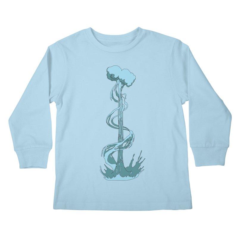 Water Blast Kids Longsleeve T-Shirt by Natou's Artist Shop