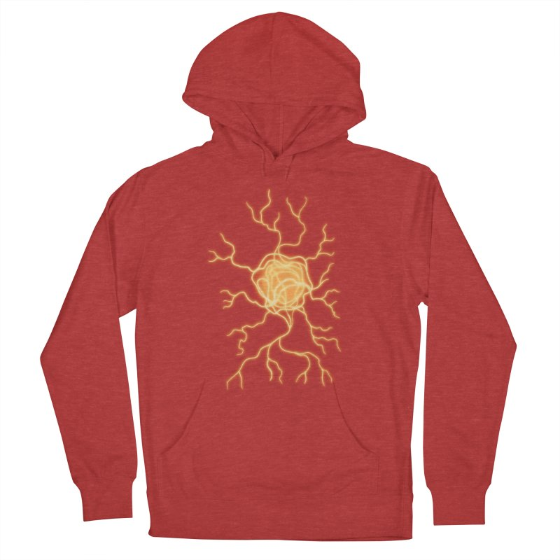 Lightning Heart Men's French Terry Pullover Hoody by Natou's Artist Shop