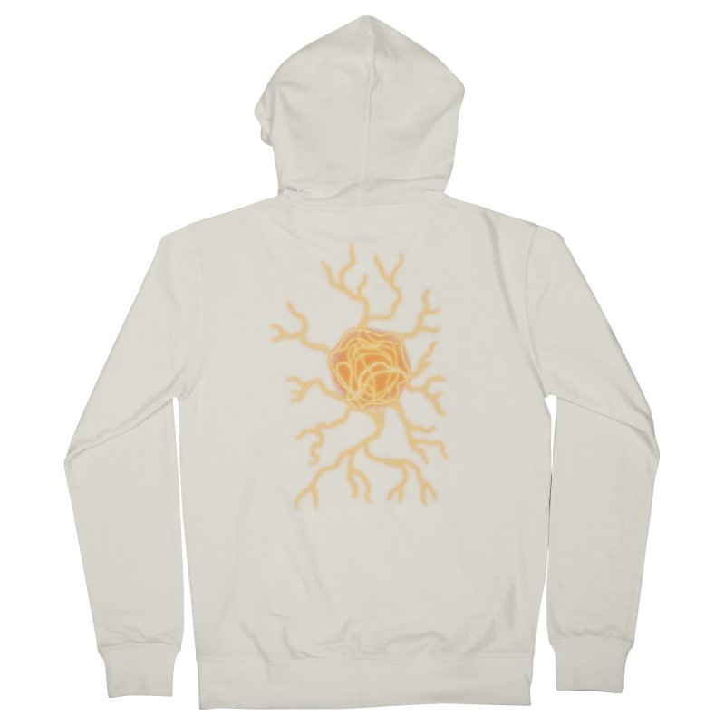 Lightning Heart Women's French Terry Zip-Up Hoody by Natou's Artist Shop