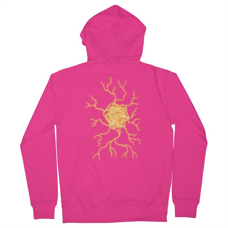 Lightning Heart Men's French Terry Zip-Up Hoody by Natou's Artist Shop