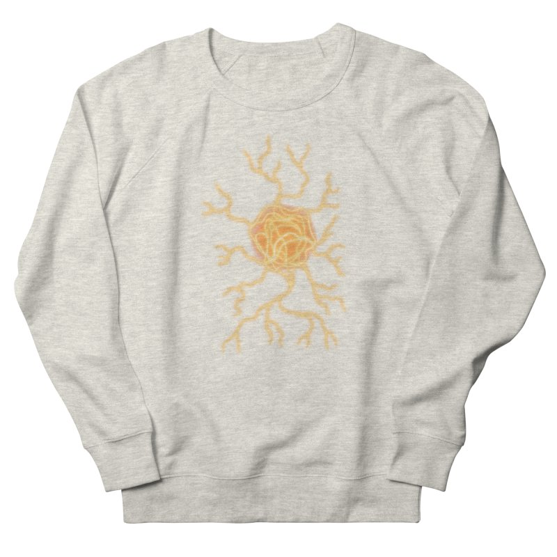 Lightning Heart Men's French Terry Sweatshirt by Natou's Artist Shop