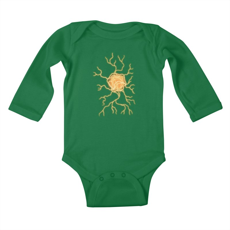 Lightning Heart Kids Baby Longsleeve Bodysuit by Natou's Artist Shop