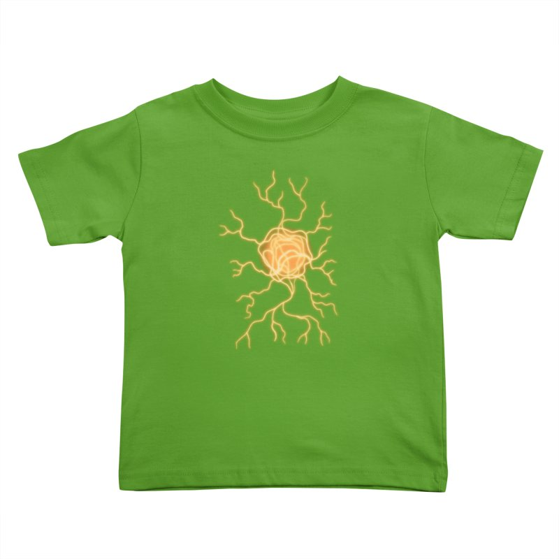 Lightning Heart Kids Toddler T-Shirt by Natou's Artist Shop