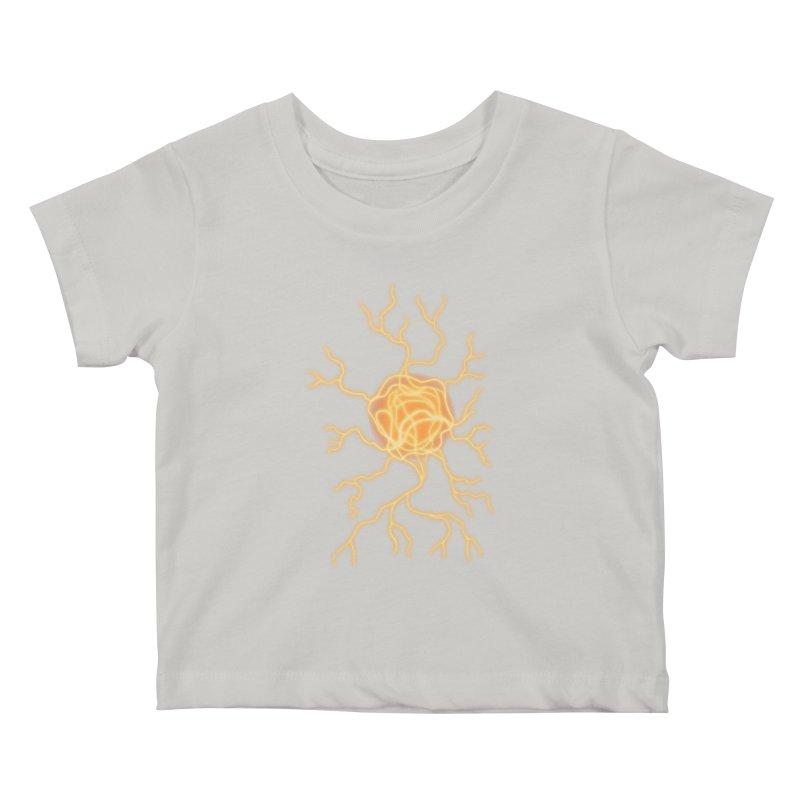 Lightning Heart Kids Baby T-Shirt by Natou's Artist Shop