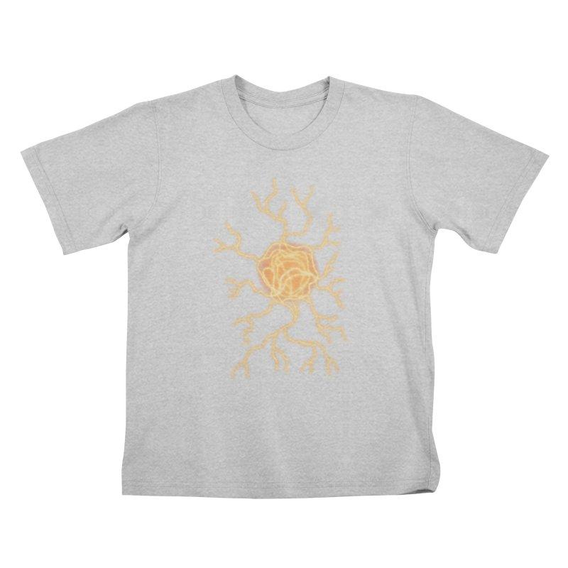 Lightning Heart Kids T-Shirt by Natou's Artist Shop