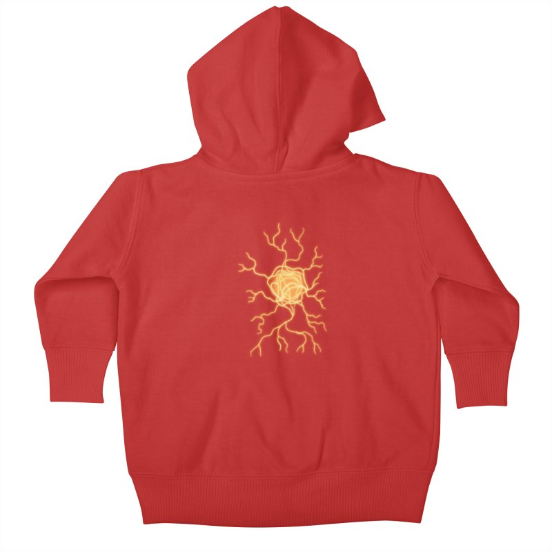 Lightning Heart Kids Baby Zip-Up Hoody by Natou's Artist Shop