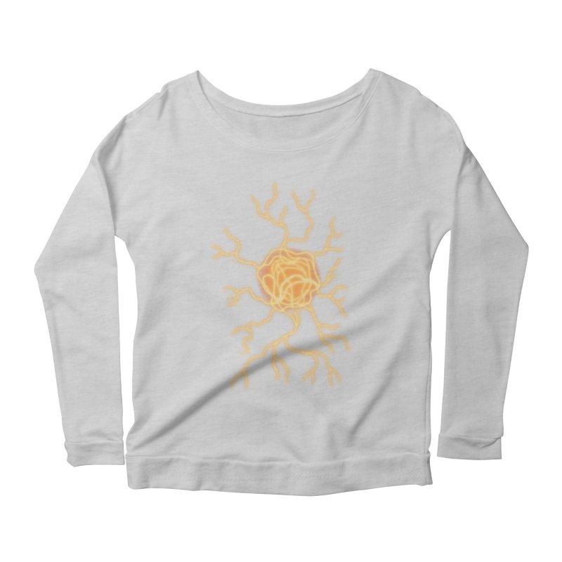 Lightning Heart Women's Scoop Neck Longsleeve T-Shirt by Natou's Artist Shop