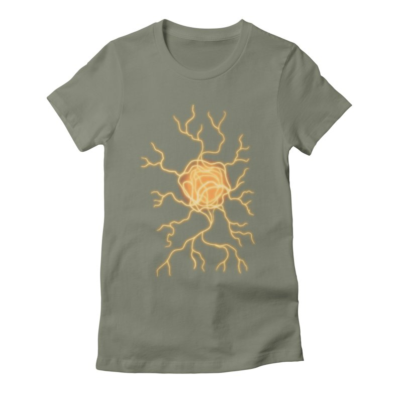 Lightning Heart Women's Fitted T-Shirt by Natou's Artist Shop