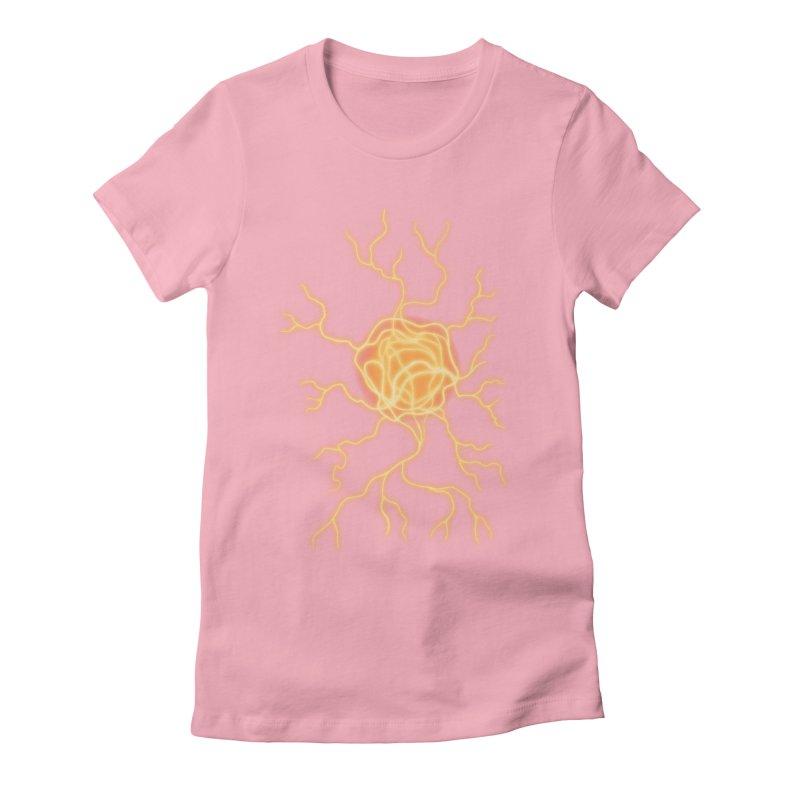 Lightning Heart Women's Fitted T-Shirt by Natou's Artist Shop