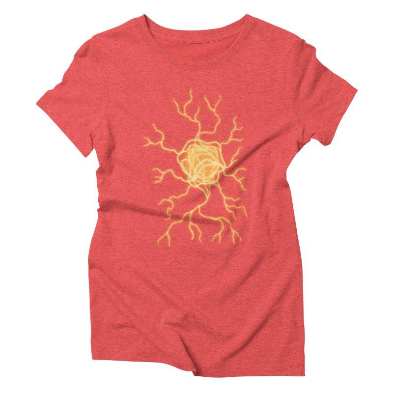 Lightning Heart Women's Triblend T-Shirt by Natou's Artist Shop
