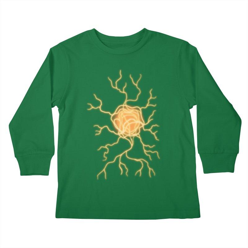 Lightning Heart Kids Longsleeve T-Shirt by Natou's Artist Shop