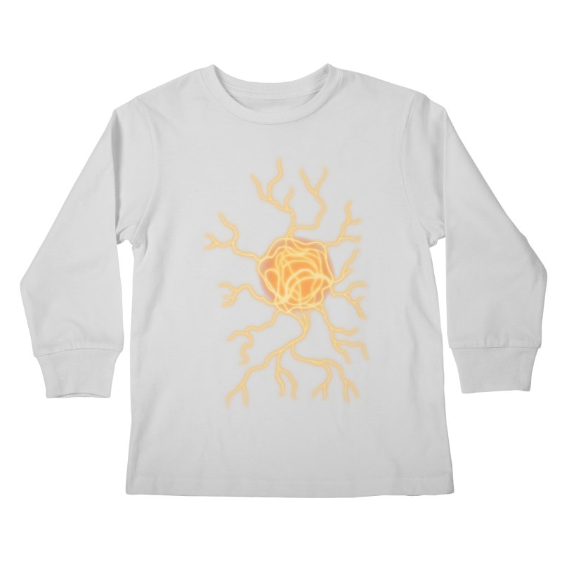 Lightning Heart Kids Longsleeve T-Shirt by Natou's Artist Shop