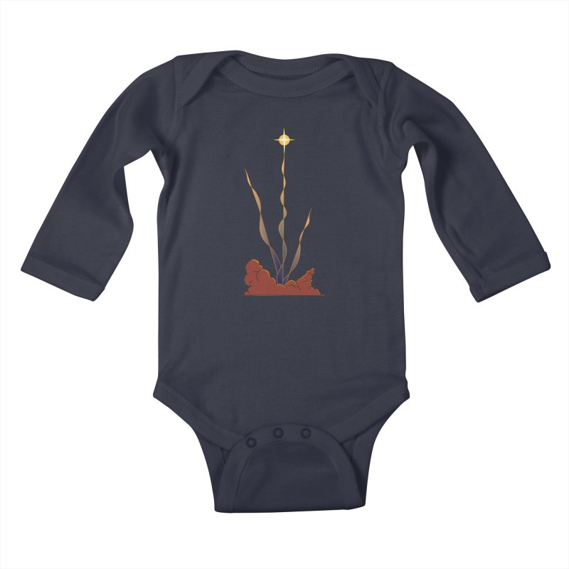 Star Blast Kids Baby Longsleeve Bodysuit by Natou's Artist Shop
