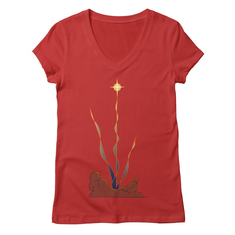 Star Blast Women's Regular V-Neck by Natou's Artist Shop