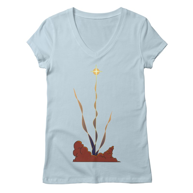Star Blast Women's V-Neck by Natou's Artist Shop