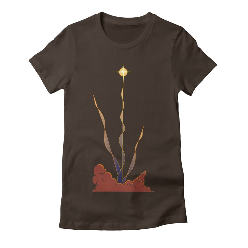 Star Blast Women's Fitted T-Shirt by Natou's Artist Shop
