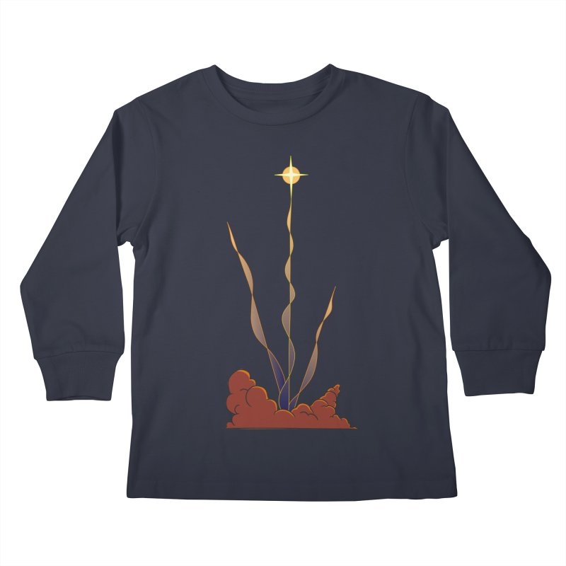 Star Blast Kids Longsleeve T-Shirt by Natou's Artist Shop