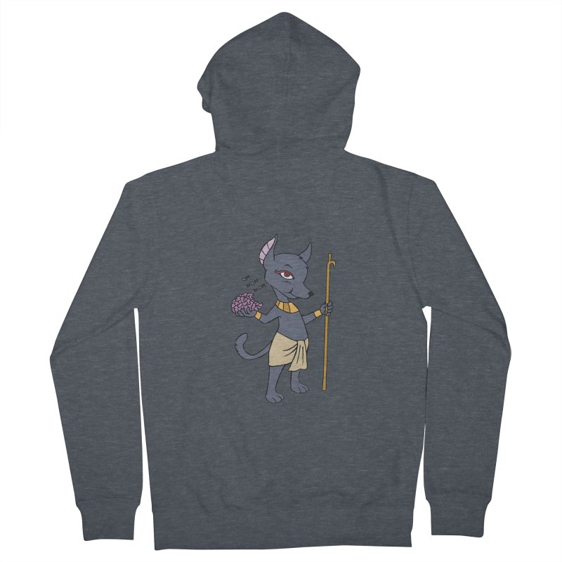 Lil' Anubis Men's French Terry Zip-Up Hoody by Natou's Artist Shop