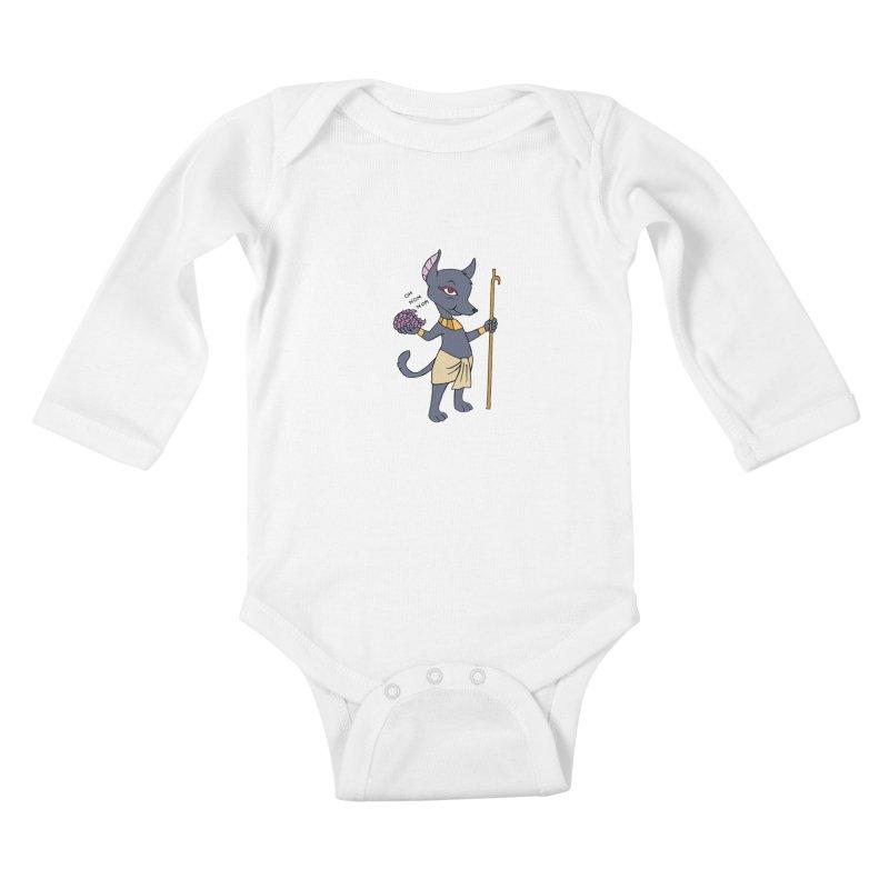 Lil' Anubis Kids Baby Longsleeve Bodysuit by Natou's Artist Shop