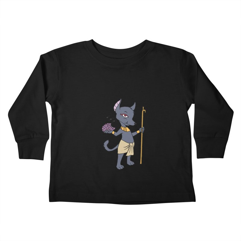 Lil' Anubis Kids Toddler Longsleeve T-Shirt by Natou's Artist Shop