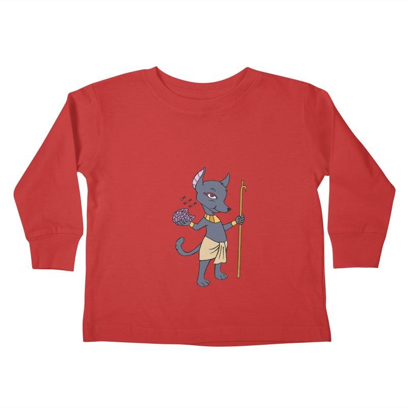 Lil' Anubis Kids Toddler Longsleeve T-Shirt by Natou's Artist Shop