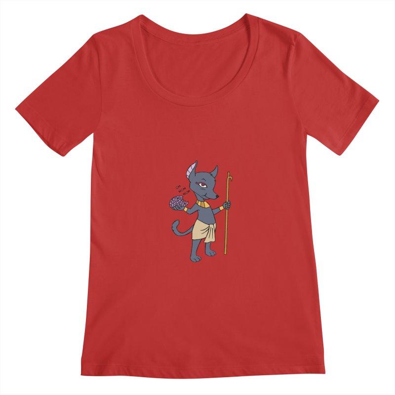 Lil' Anubis Women's Regular Scoop Neck by Natou's Artist Shop