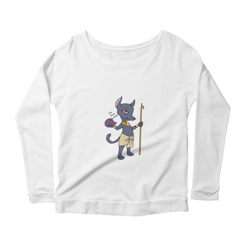 Lil' Anubis Women's Scoop Neck Longsleeve T-Shirt by Natou's Artist Shop