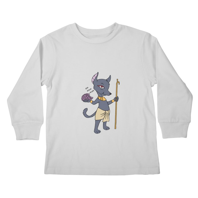Lil' Anubis Kids Longsleeve T-Shirt by Natou's Artist Shop
