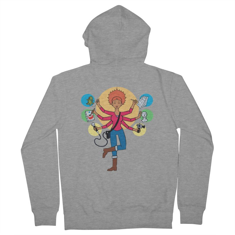 Museful Women's French Terry Zip-Up Hoody by Natou's Artist Shop