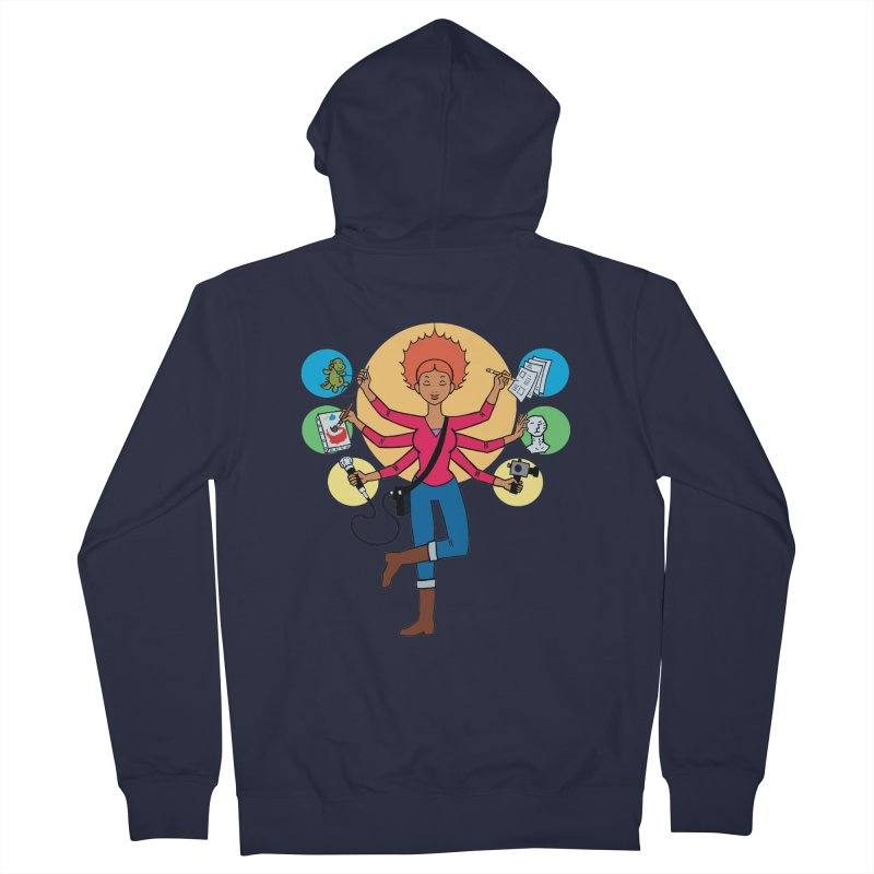 Museful Men's French Terry Zip-Up Hoody by Natou's Artist Shop