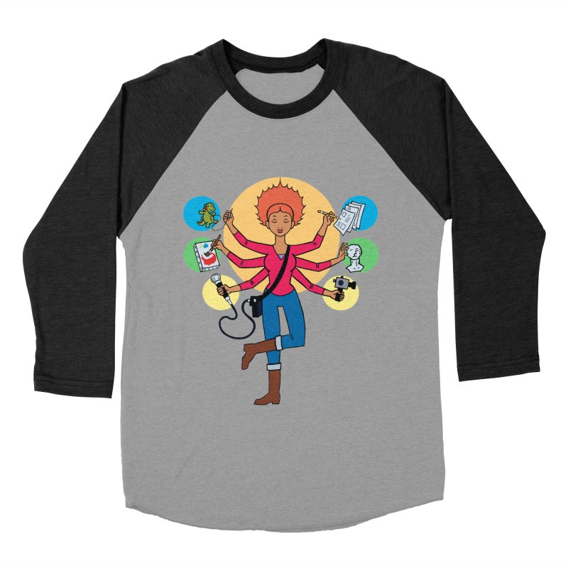 Museful Women's Baseball Triblend Longsleeve T-Shirt by Natou's Artist Shop