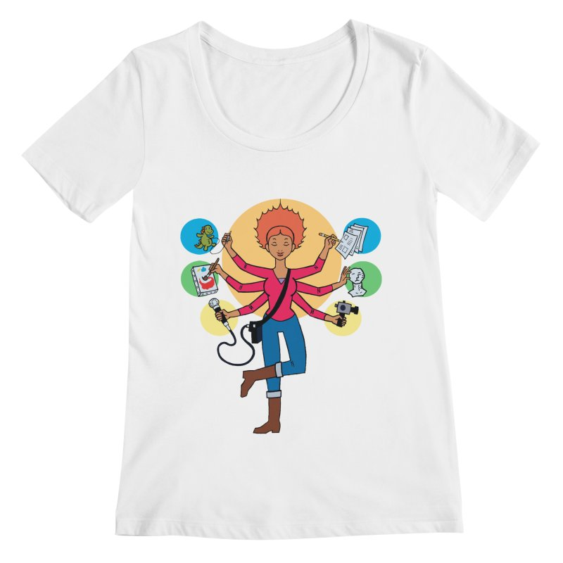 Museful Women's Scoopneck by Natou's Artist Shop