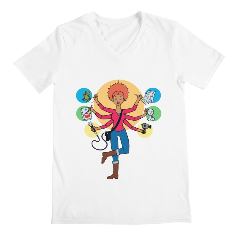 Museful Men's V-Neck by Natou's Artist Shop