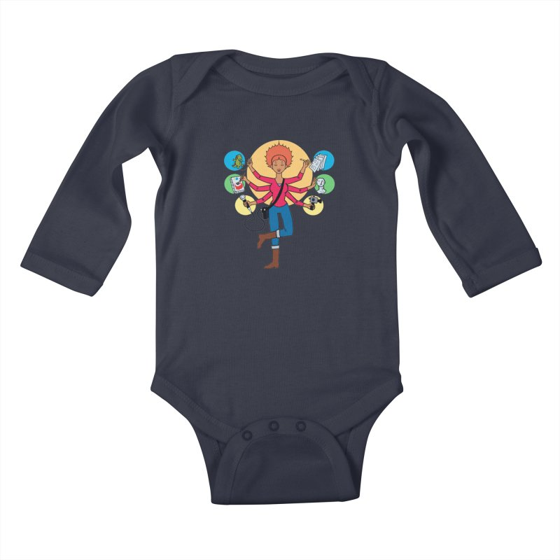 Museful Kids Baby Longsleeve Bodysuit by Natou's Artist Shop
