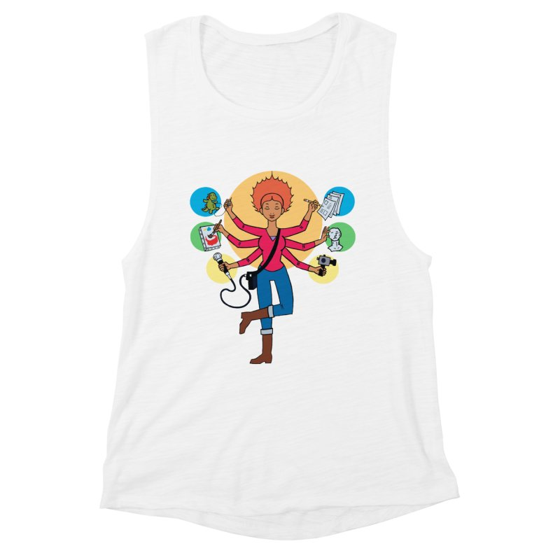 Museful Women's Muscle Tank by Natou's Artist Shop