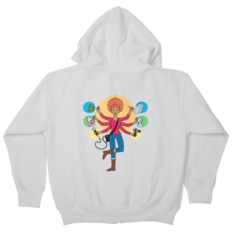 Museful Kids Zip-Up Hoody by Natou's Artist Shop