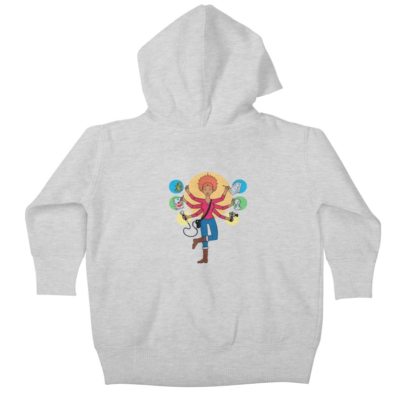 Museful Kids Baby Zip-Up Hoody by Natou's Artist Shop