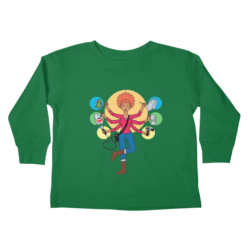 Museful Kids Toddler Longsleeve T-Shirt by Natou's Artist Shop