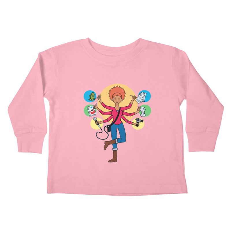 Museful Kids Toddler Longsleeve T-Shirt by Natou's Artist Shop