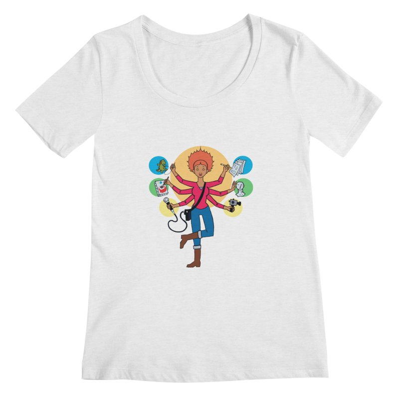Museful Women's Scoop Neck by Natou's Artist Shop