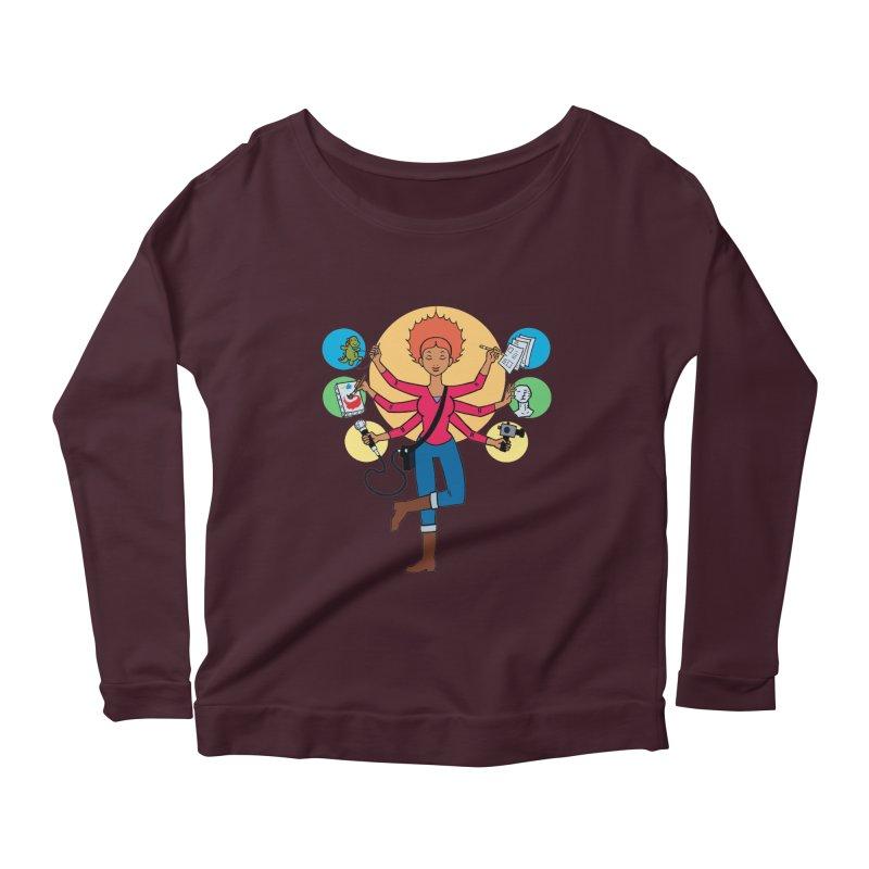 Museful Women's Scoop Neck Longsleeve T-Shirt by Natou's Artist Shop