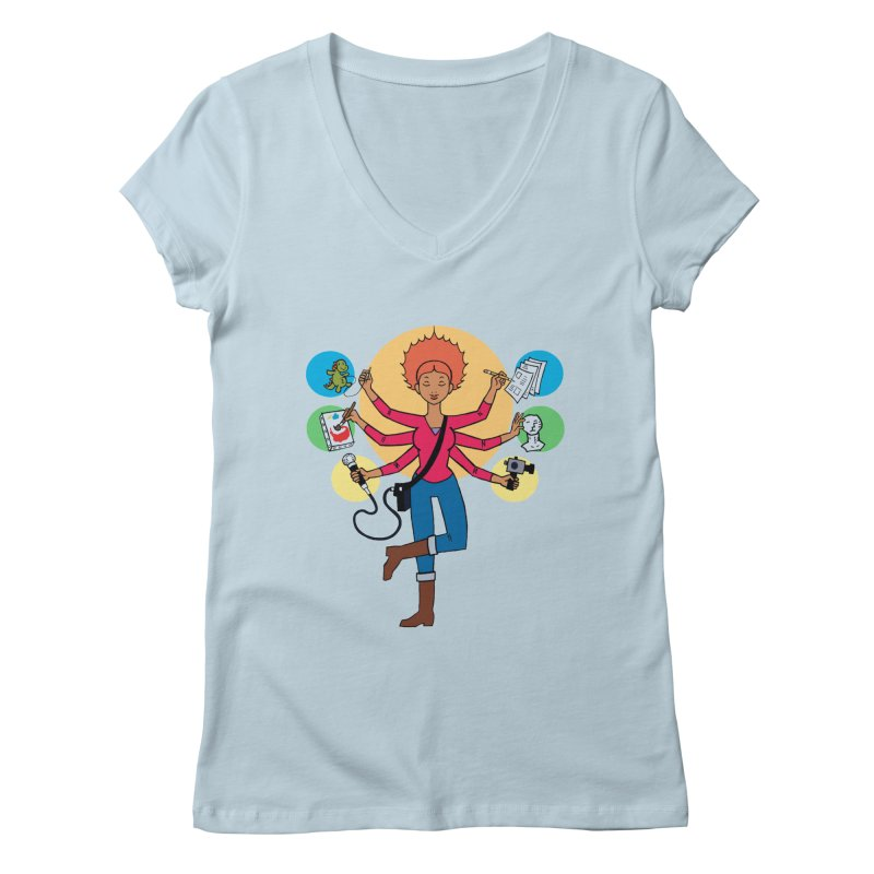 Museful Women's V-Neck by Natou's Artist Shop