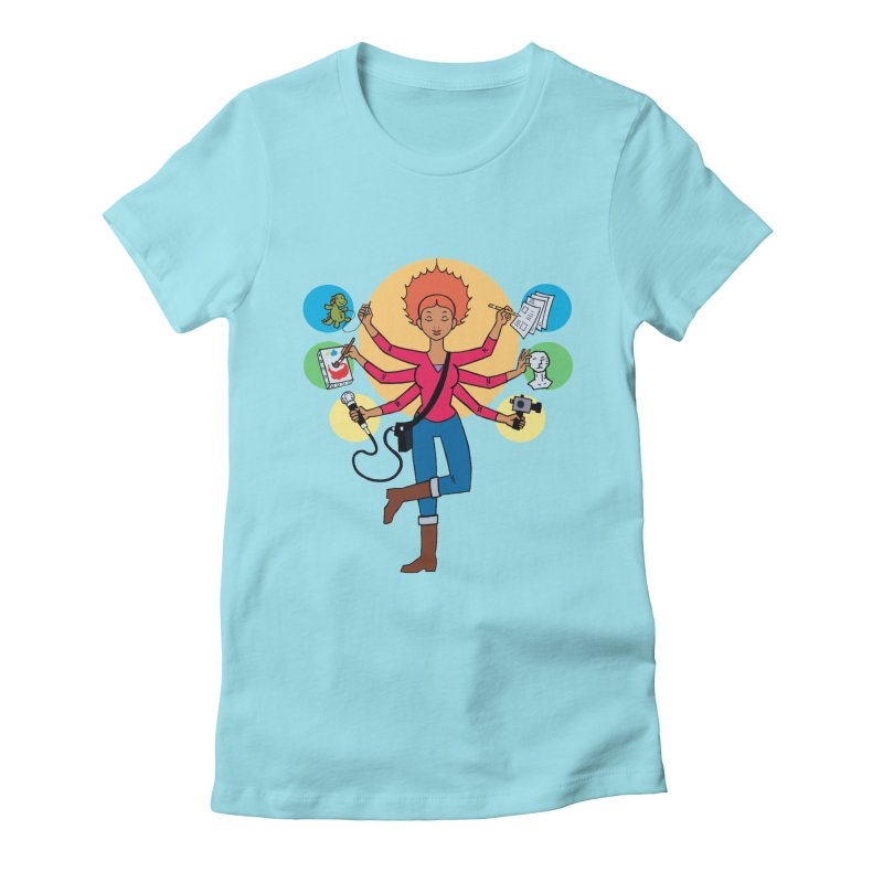 Museful Women's Fitted T-Shirt by Natou's Artist Shop