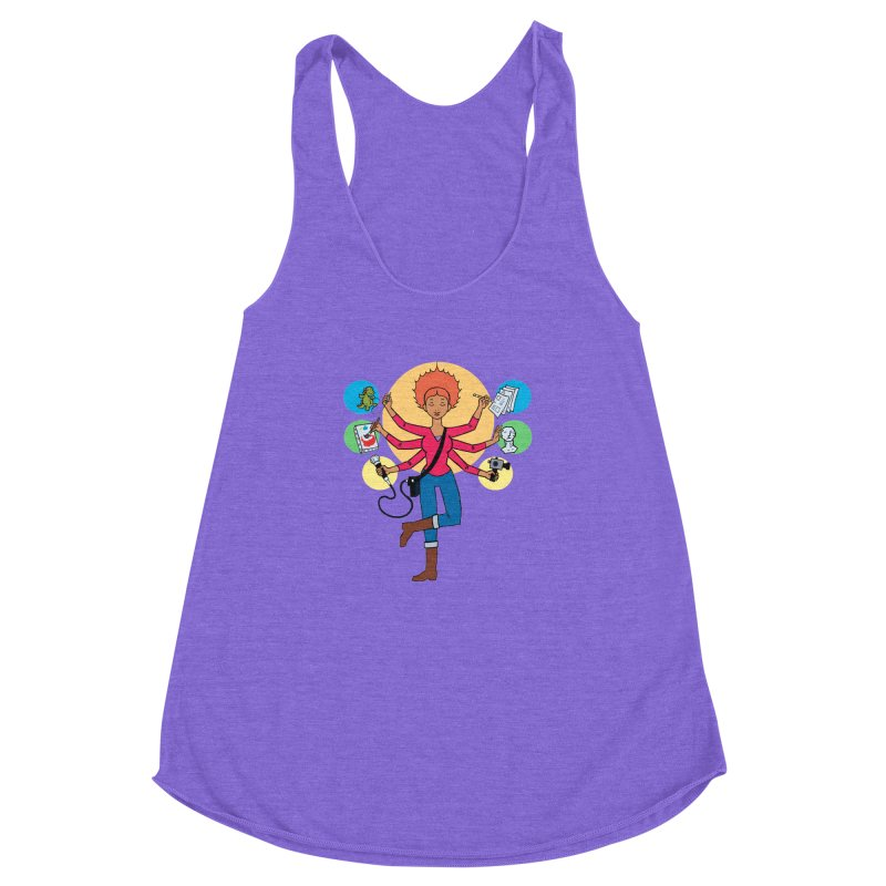 Museful Women's Racerback Triblend Tank by Natou's Artist Shop