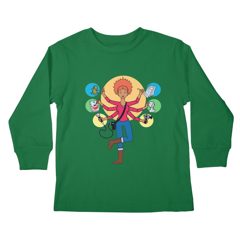 Museful Kids Longsleeve T-Shirt by Natou's Artist Shop