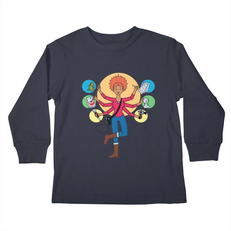 Museful Kids Longsleeve T-Shirt by Natou's Artist Shop
