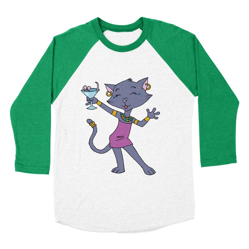 Lil' Bastet Men's Baseball Triblend T-Shirt by Natou's Artist Shop