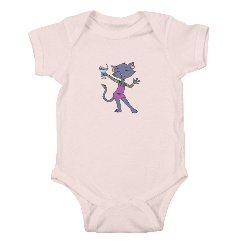 Lil' Bastet Kids Baby Bodysuit by Natou's Artist Shop