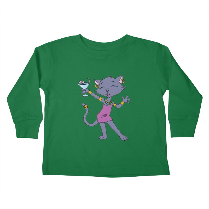 Lil' Bastet Kids Toddler Longsleeve T-Shirt by Natou's Artist Shop